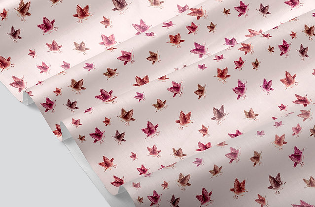Tiny Sparrow Fabric by the Metre, Printed by Spoonflower, Free Shipping