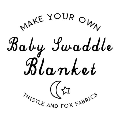 Make Your Own Baby Swaddle, Organic Stretch Fabric Printed in Australia