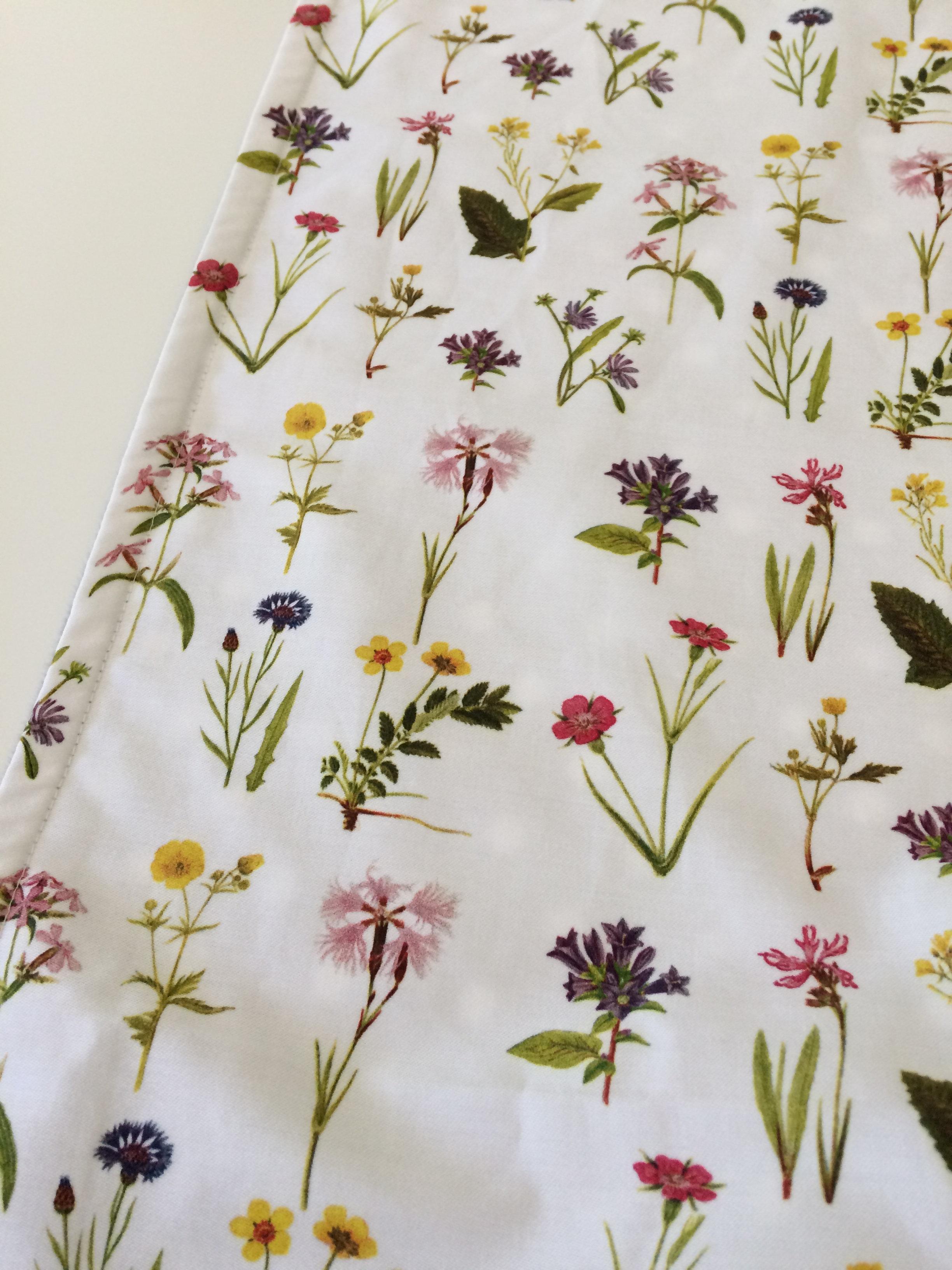 Organic Cotton Sateen, Minky Baby Blanket - Wildflowers   Ready to Ship