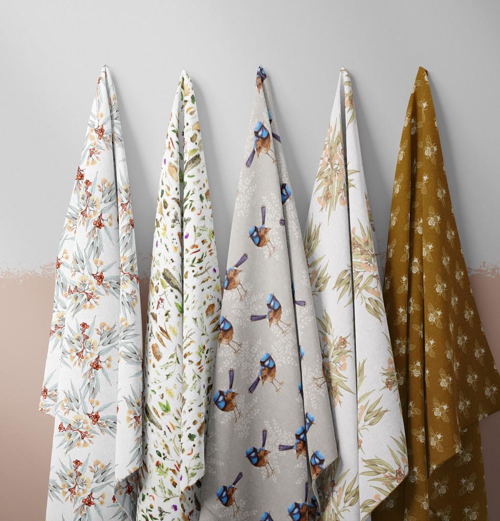 Australiana fabric designs