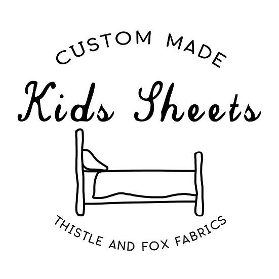 Custom Kids Sheets | Made to Order Fitted or Flat Sheet, Summer Bed Cover