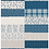 Thumbnail: Fill 2 Yards, 16 designs, Neutrals & Blue Collection   Fabric Printed in USA