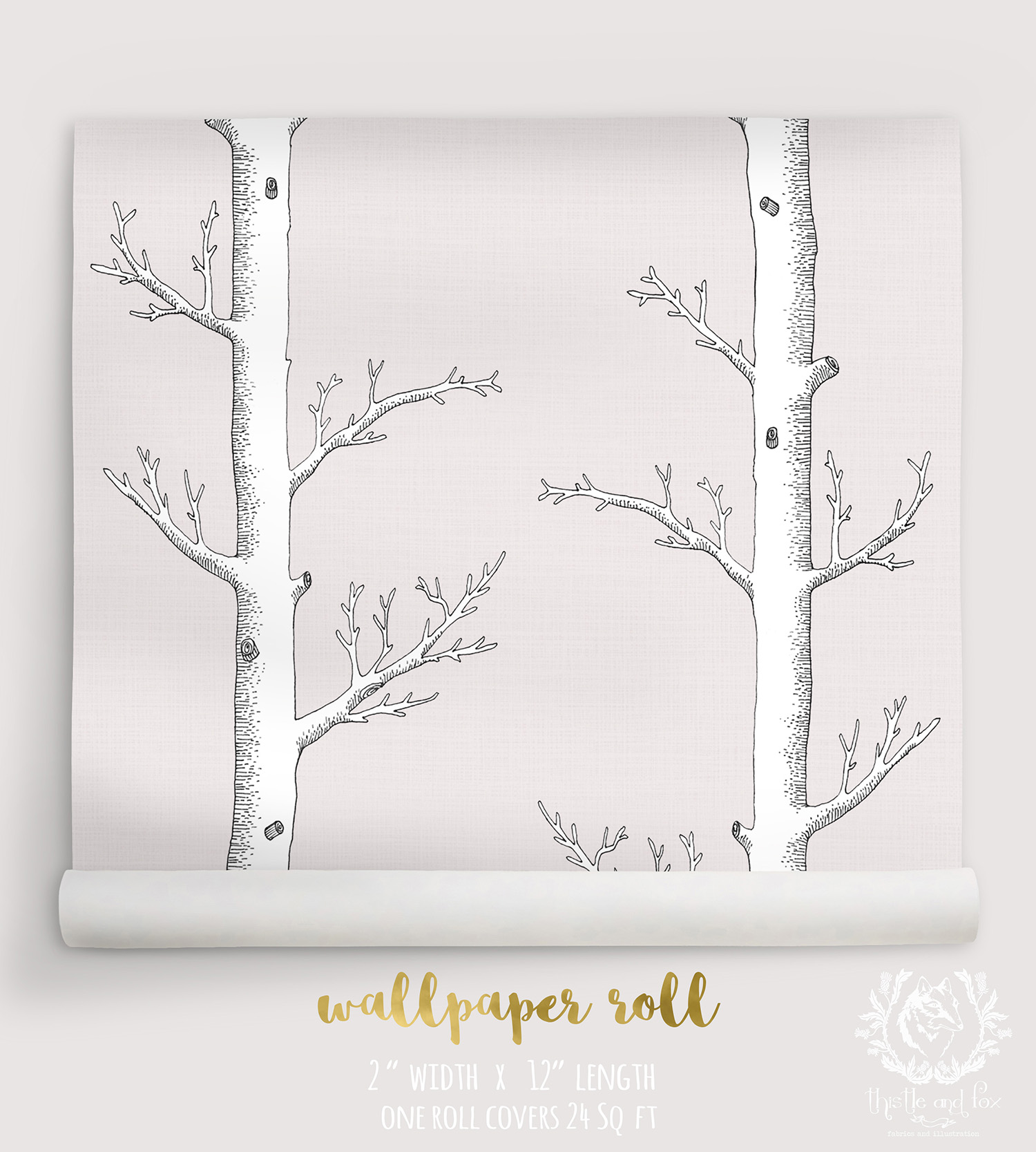 WALLPAPER Birch Forest Neutral