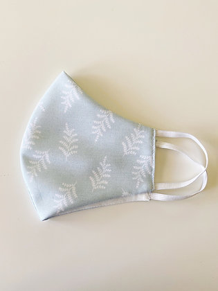 Fabric Face Mask, Fern Fronds Pale Green, Handmade in Australia