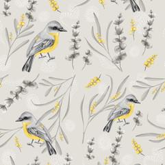 Australian Yellow Robin Botanical