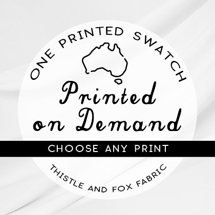 Single Printed SWATCH, Choose Design, Fabric Printed in Australia