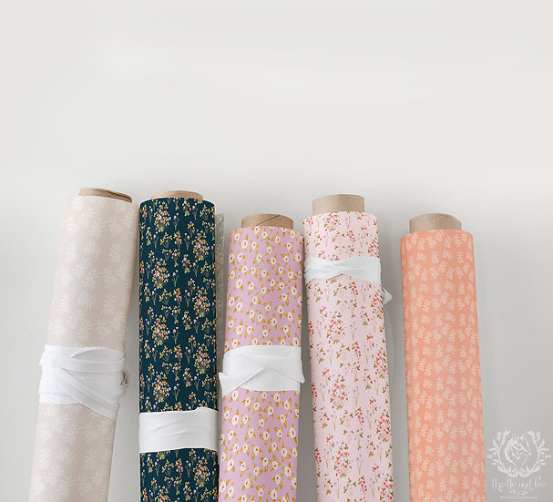 Wildflower Meadow Collection Part 1, Choose Design, Printed Cotton Fabric