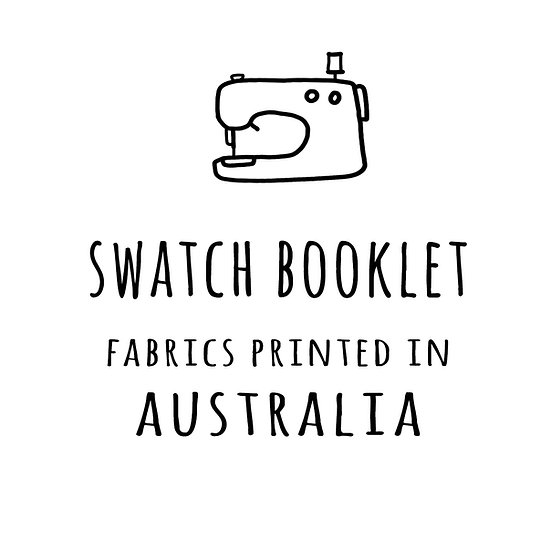 Swatch Booklet, SAMPLES of All Fabrics Printed in Australia
