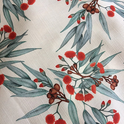 Tablecloth, Eucalyptus Gum Blossom in Red