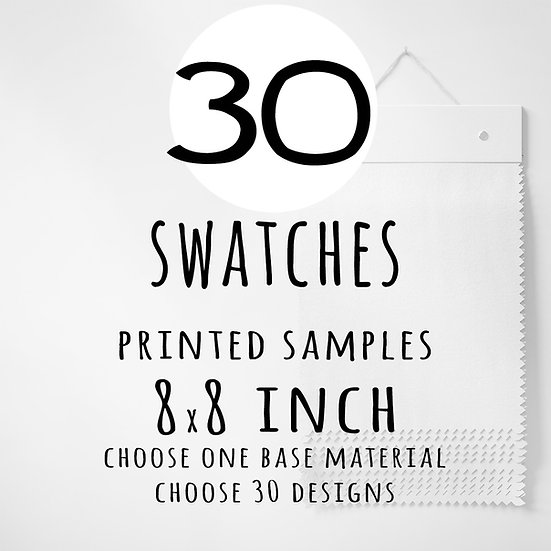 Swatch Sampler 30 designs, You Choose | Fabric Printed in USA