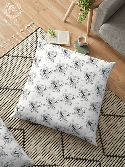 Sleepy Koala Throw Pillows, Australian Fauna Cushion
