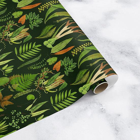 Fern Forest Botanical Drawer Liner Paper or Wallpaper, Choose Colour