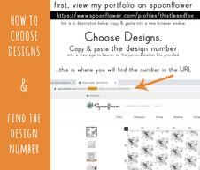How to Choose Designs via Spoonflower