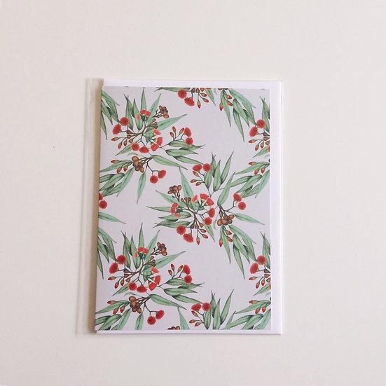 Greeting Card   Red Flowering Gum