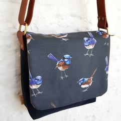 Blue Wren Satchel Bag