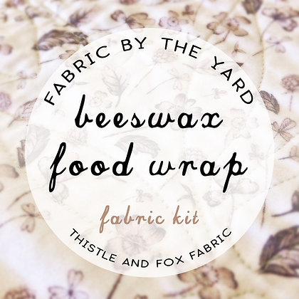 Fabric Kit DIY beeswax food wraps