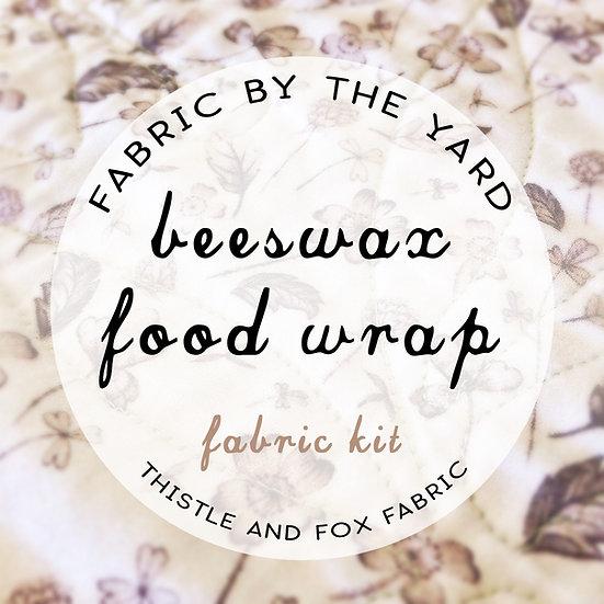 Fabric Kit DIY beeswax food wraps