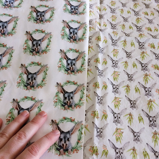 Cotton Poplin Fabric by the Metre, Printed in Melbourne