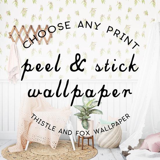 Custom Printed Wallpaper, Woven Peel and Stick Self Adhesive Wallpaper