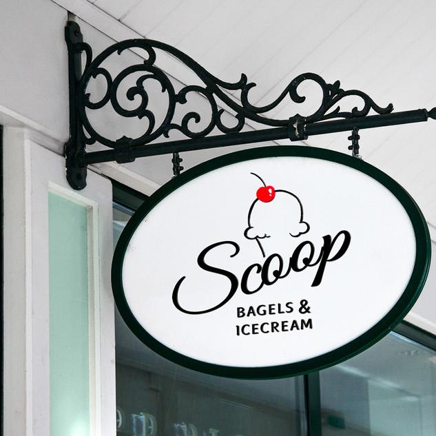 Scoop Logo, Signage
