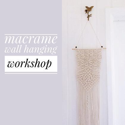 Macrame Wall Hanging Workshop