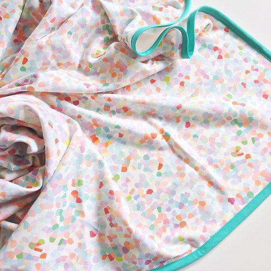 Organic Cotton Knit Baby Blanket - Confetti Watermelon Party