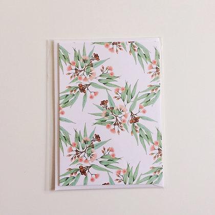 Greeting Card   Flowering Gum on White