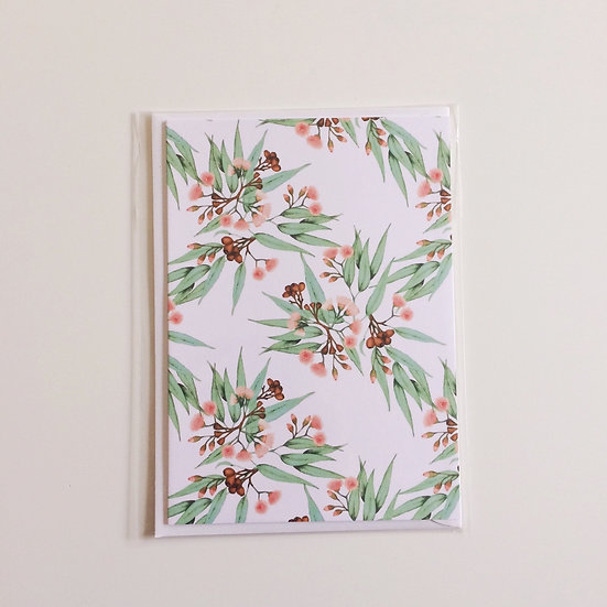 Greeting Card | Flowering Gum on White