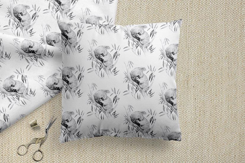 Sleepy Koala Australian Animal Printed Cotton Fabric by the Metre