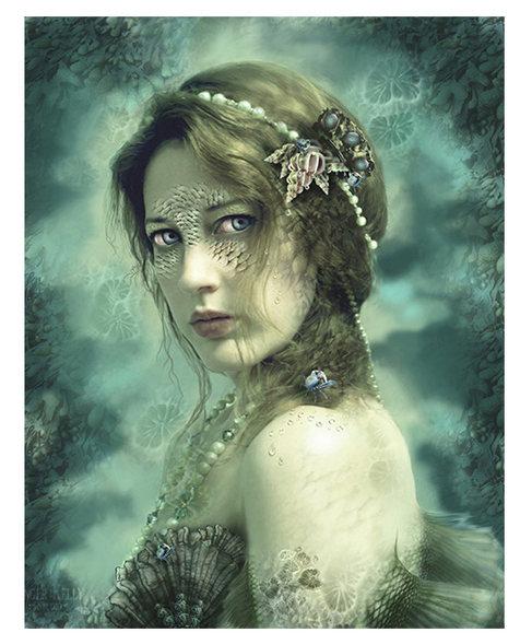 Mermaid Behind Her Mask