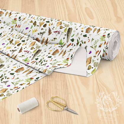 Australian Bushland Fabric by the Metre, Printed in Australia