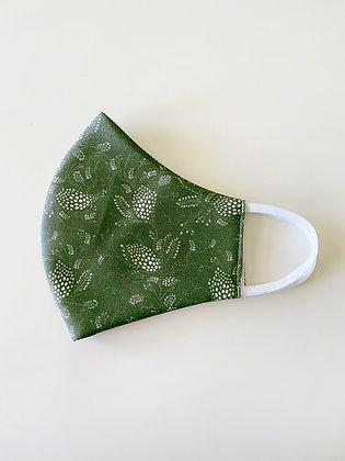 Fabric Face Mask, Everdeen Moss Green, Handmade in Australia