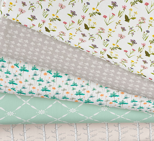 Wildflower Meadow Collection Part 2, Choose Print, Cotton Fabric by the Metre