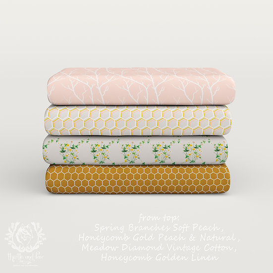 The Honey House Collection Part 1, Choose Design, Printed Cotton Fabric