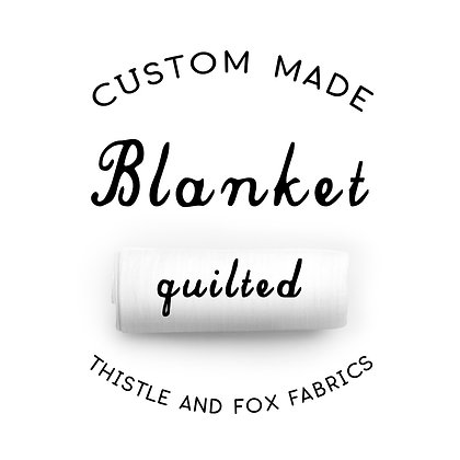 Custom Cot Quilt. Cotton Sateen Quilted Coverlet Baby Blanket