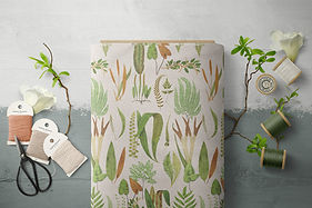 03 FF v.6 Fabric Fern Forest Parchment w