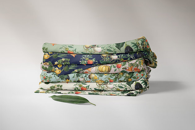 Vege Garden Fabric by the Metre, Printed in Australia