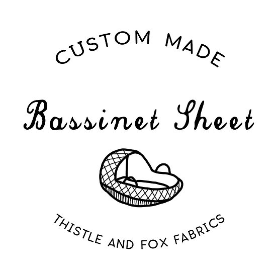 Custom Made Bassinet Sheets to fit ANY Shape Mattress | Made to Order Fitted