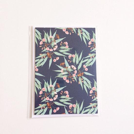 Greeting Card | Flowering Gum on Midnight Blue