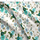 Thumbnail: Briar Roses Floral Fabric per metre, Turquoise Teal and Vanilla