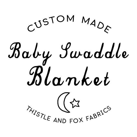 Custom Made Baby Blanket, Organic Muslin or Stretch Jersey
