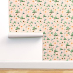 Meadow with Bees, Peach