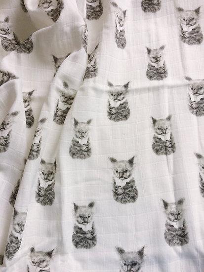 Organic Cotton Muslin Koala Throw Blanket 140 x 180cm