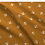 Thumbnail: White Bees on Toffee, Eco Friendly Printed Fabric per Metre