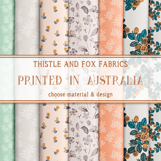 Woodland Floral Fabric by the Metre, Choose Print, Printed in Austr
