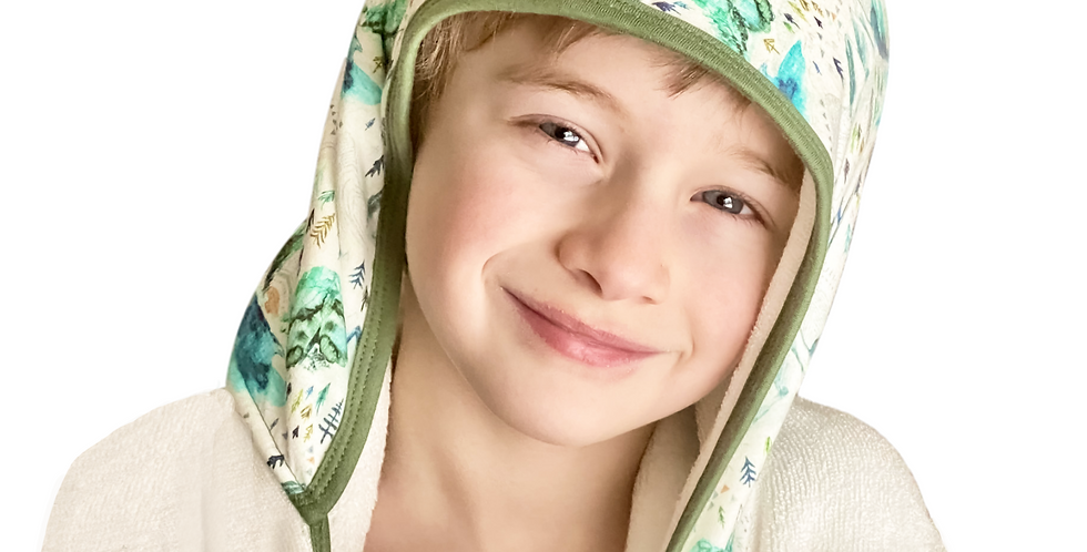 Magic In the Mountains: Big Kids Hooded Towel For Ages 7 to 12
