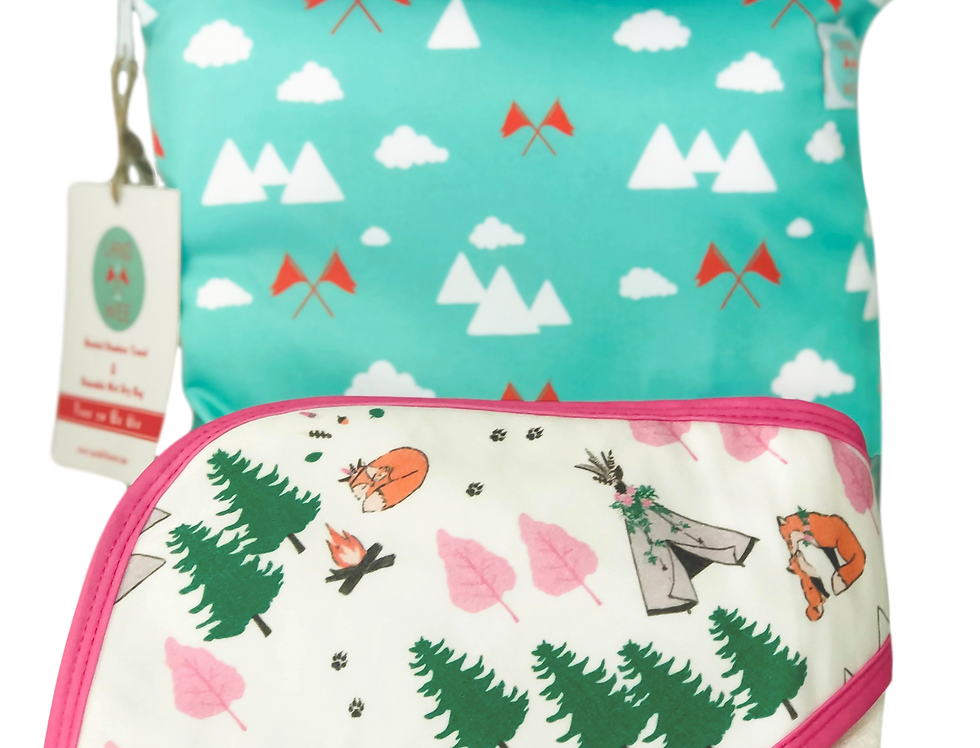 Forever Foxy -Hooded Baby Towel & Reusable Bag