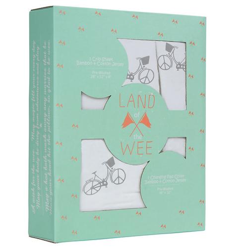 Bamboo Crib Sheet & Changing Table Cover Set - Gray
