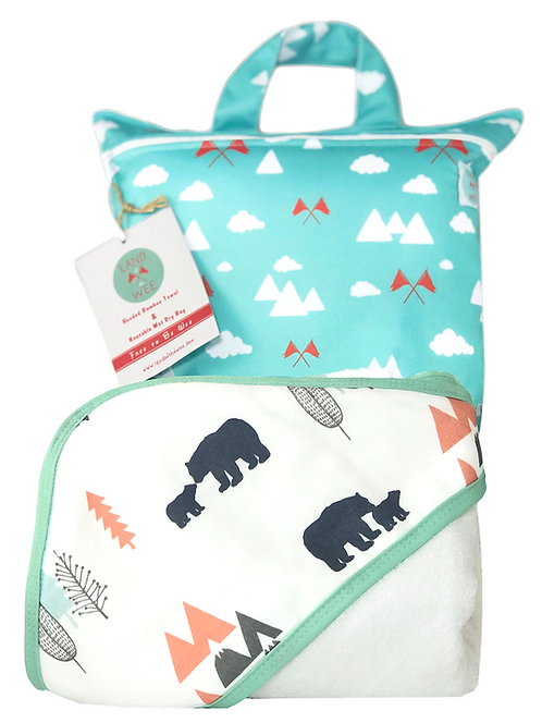 All I can Bear - Hooded Baby Towel and Reusable Bag