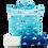Thumbnail: Kids Blue Triangle Hooded Towel and Reusable Bag Set